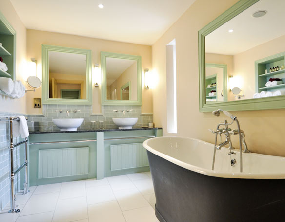 Bathroom in The Tower Suite at The Bushmills Inn
